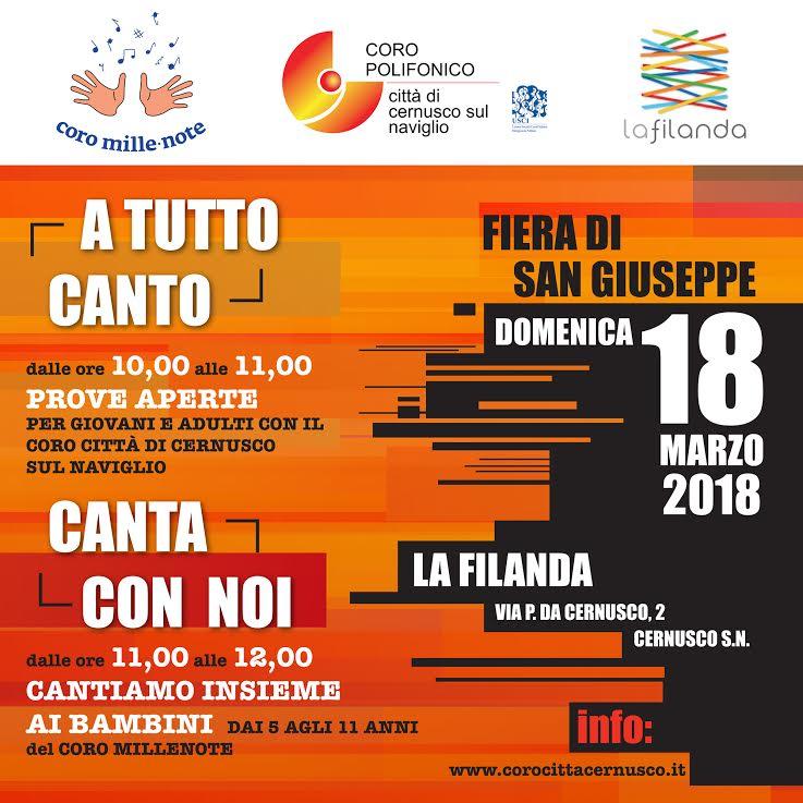 """Prove aperte  dei cori presso  """"laFilanda"""" in occasione della Fiera di S.Giuseppe 2018"""