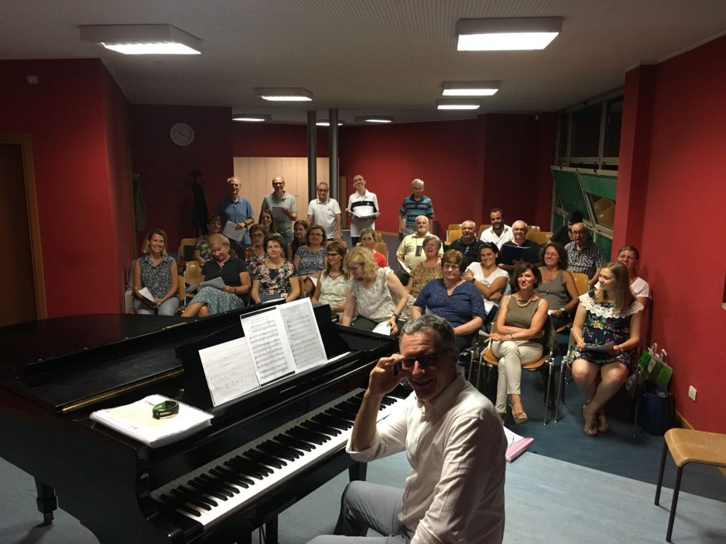 lunedì 10 settembre 2018 –  riprende l'attività del Coro alle ore 21,00 presso la nostra sede in via deGasperi 5