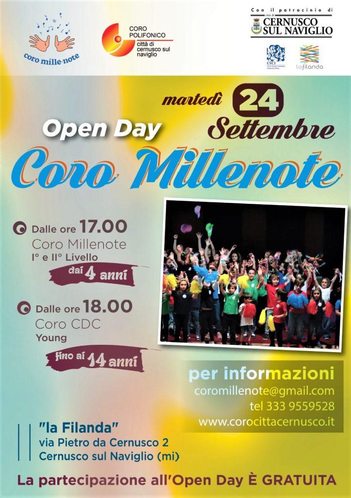 Il coro millenote ricomincia con l'Open Day del 24 settembre 2019